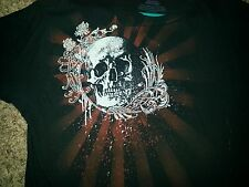 SKULL  SHIRT SIZE LARGE  AWESOME!! WORN ONCE-NICE!!
