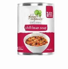 8 x 400g Global Organics Organic Chilli Bean Soup ( Can )
