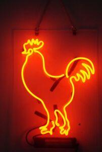 "New Cock Neon Light Sign Lamp Beer Pub Acrylic 14"""
