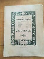 Ancienne Partition - morceau facile pour piano - Gounod - N°3 Les pifferari
