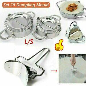 Edelstahl-Teig Presse Maker Knödel Pie Ravioli Form Ravioliformer Dumpling TOPDE
