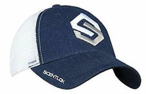 Scent-Lok Men's Logo Hat Cap Blue Denim White Meshback Strapback NEW OSFM