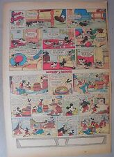 Mickey Mouse Sunday Page by Walt Disney from 9/22/1935 Tabloid Page Size