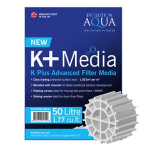 Evolution Aqua K+ PLUS Filtration Media 50L Floating / Sinking Koi Pond Filters