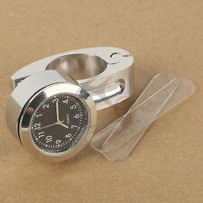 "Motorcycle 7/8"" 1"" Handlebar Mount Clock Watch for Kawasaki Ninja ZX Vulcan ZRX"