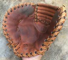 Vtg 1960s Ernie Banks Wilson A2882 Baseball Glove First Baseman's Mitt Pro Style