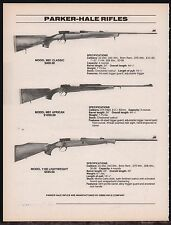 1995 PARKER-HALE M81 Classic & African, 1100 Lightweight Rifle AD w/orig prices