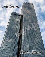 Australia - Melbourne - RIALTO TOWERS - travel souvenir FLEXIBLE fridge magnet