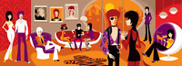 Josh Agle SHAG Art Print David Bowie Man Who Sold The World S# 200 Poster Disney