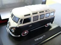 1/43 Schuco VW T1 Samba Bus schwarz weiss 450369600