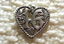 LARGE Retired James Avery Sterling Silver SWEET 16 Bracelet Charm/Pendant 4.6 gr