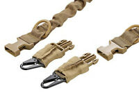 Tactical 2 Point Heave Duty Rifle Slings for AR 15 Airsoft Gun Sling Sand