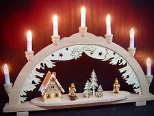 Arc à lumière à bougies 3D travailleur FORESTIER 2 Figuren 57x38 cm 7 lumières