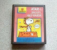 Atari 2600 - Peanuts. Snoopy And The Red Baron Cart. 26111. Rare