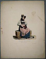 Lithographie de Engelmann, Suisse, Neuchatel, costume