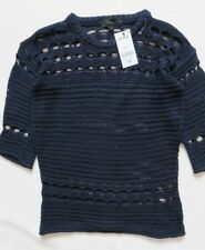 Next Blue Navy Knit Sweater Jumper Size XSmall