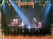 RARE NAZARETH STAGE FOOL CIRCLE TOUR 1982 VINTAGE ORIGINAL MUSIC POSTER
