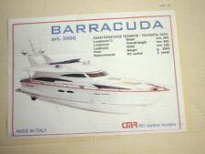 CMR (ITALY) BARRACUDA R/C MOTOR INCLUDED- NO REMOTE CONTROL