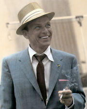 "FRANK SINATRA OLD BLUE EYES ACTOR SINGER 8x10"" HAND COLOR TINTED PHOTOGRAPH"