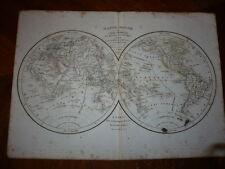 GRANDE MAPPEMONDE 1831 GLOBE TERRESTRE SPHERE