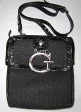 GUESS Primary G Logo Sac Cartable Baguettes Noir Neuve
