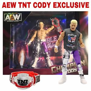 AEW Cody Rhodes with TNT Championship  - Exclusive Brand New Figure - Scale WWE