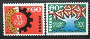 POLAND 1964 20th Anniversary of People's Republic. Set of 2. MNH. SG1467/1468.