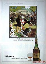 1979 BISQUIT Cognac 'The Butler' Advert - Jensen after Bateman Series Print AD