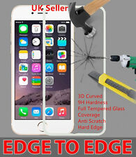 Iphone6/6S 3D Curved 9H Hard Edge to Edge Tempered Glass Screen Protector White