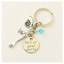 The Little Mermaid Ariel-Inspired Keychain Part Of Your World Gift of Love