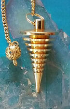 JOE SMITH STYLE HANDMADE DANCING GOLD DOWSING PENDULUM, MOST ACCURATE ANYWHERE