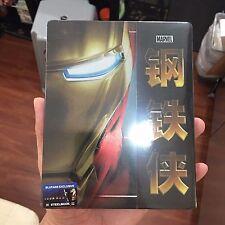 Iron Man Blu-ray Steelbook w/ 1/4 slipcover | Blufans [BE20] Marvel | NEW
