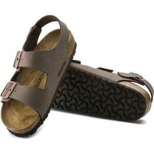 Birkenstock Milano Regular Fit Mens Womens Brown Mocca Sandals Size 3.5-14.5