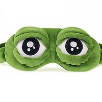 Pepe The Frog Sad Rana 3D Maschera per gli occhi Copri Dormire Riposo DormireBHQ