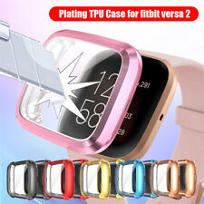 Luxury Full Cover for Fitbit Versa 2 Plating TPU Watch Case Screen Protectors