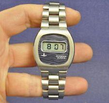 Dugena LCD Uhr 1970er Jahre Armbanduhr Herren Gents / defekt Watch faulty Quarz