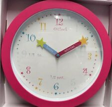O'Clock Quality Kids Learning Time Wall Clock 25cm EDUCATION *NEW* PINK GIRLS