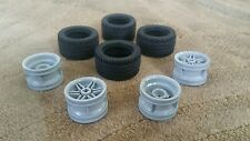 Lego Parts Pieces Wheel Grey #56145 & Tire 43.2mm D. x 22mm ZR SET 4