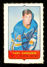 1969-70 OPC O-PEE-CHEE MINI 4in1 GARY SABOURIN ST LOUIS BLUES EXNM STAMP Sticker