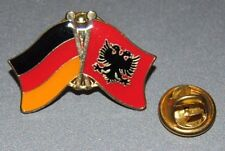 FREUNDSCHAFTSPIN 0036 PIN ANSTECKER DEUTSCHLAND/ALBANIEN LÄNDERPIN FAHNE PINS
