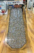 Sparkle Diamond Crushed Crystal Silver Mirrored Floor Vase 40x70CM