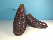 Johnston & Murphy Cellini Woven Moc Toe Dress Shoes Mens Size 8.5M