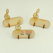 Tischkarte mit Notenschlüssel Platzkarte mit Fuss 6 Stück für Musiker