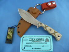 TOPS Camp Creek Knife Camo G-10 S35VN Stainless Coyote Kydex USA Made