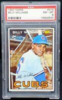 Rare Vintage 1967 Topps HOF Cubs BILLY WILLIAMS Card PSA 8 NM-MINT Low PSA Pop