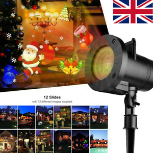 Xmas Moving Laser Projector LED Light Up Garden Landscape Halloween Party Lamp