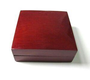 LUXURY MAHOGANY WOOD EARRINGS/PENDANT JEWELLERY GIFT BOX-Reversible CK2DS/MED
