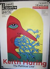 Rare Keith Haring Poster~Museum Exhibition Ad for Artist's Show