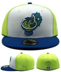 El Paso Margaritas Chihuahuas New Era 59Fifty MiLB Green Fitted Hat Cap 7 1/2