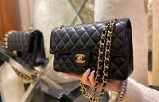 Chanel Lambskin & Gold-Tone Metal Black Bag